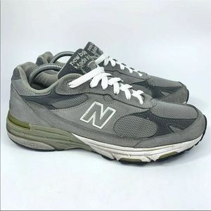 New Balance 993 Made In USA Gray Running Shoes